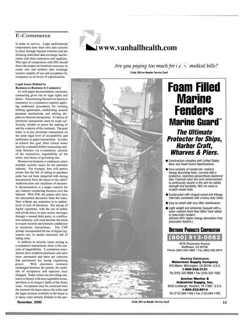 Maritime Reporter Magazine, page 15,  Nov 2000 United States Navy