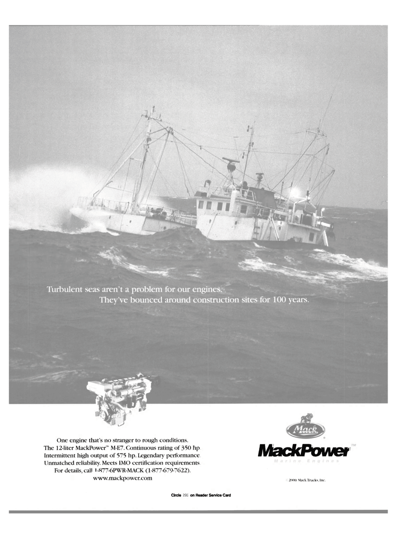Maritime Reporter Magazine, page 19,  Nov 2000 MackPower 20(H) Mack Trucks Inc.