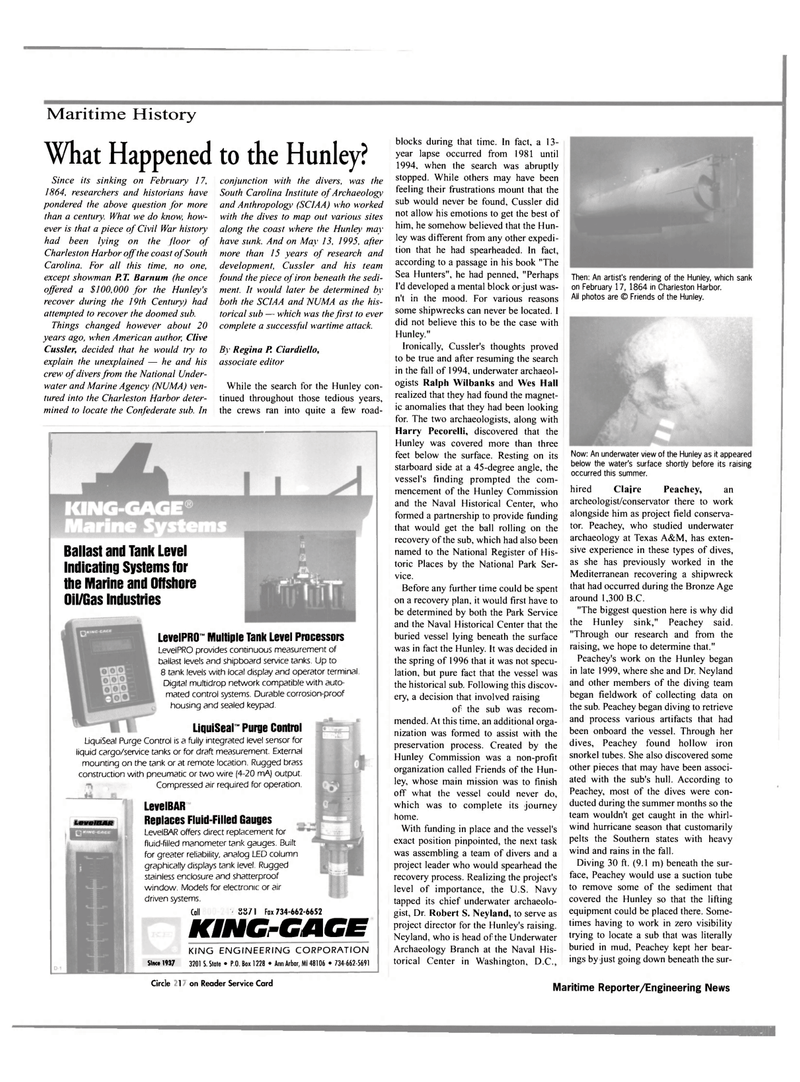 Maritime Reporter Magazine, page 60,  Nov 2000 South Carolina