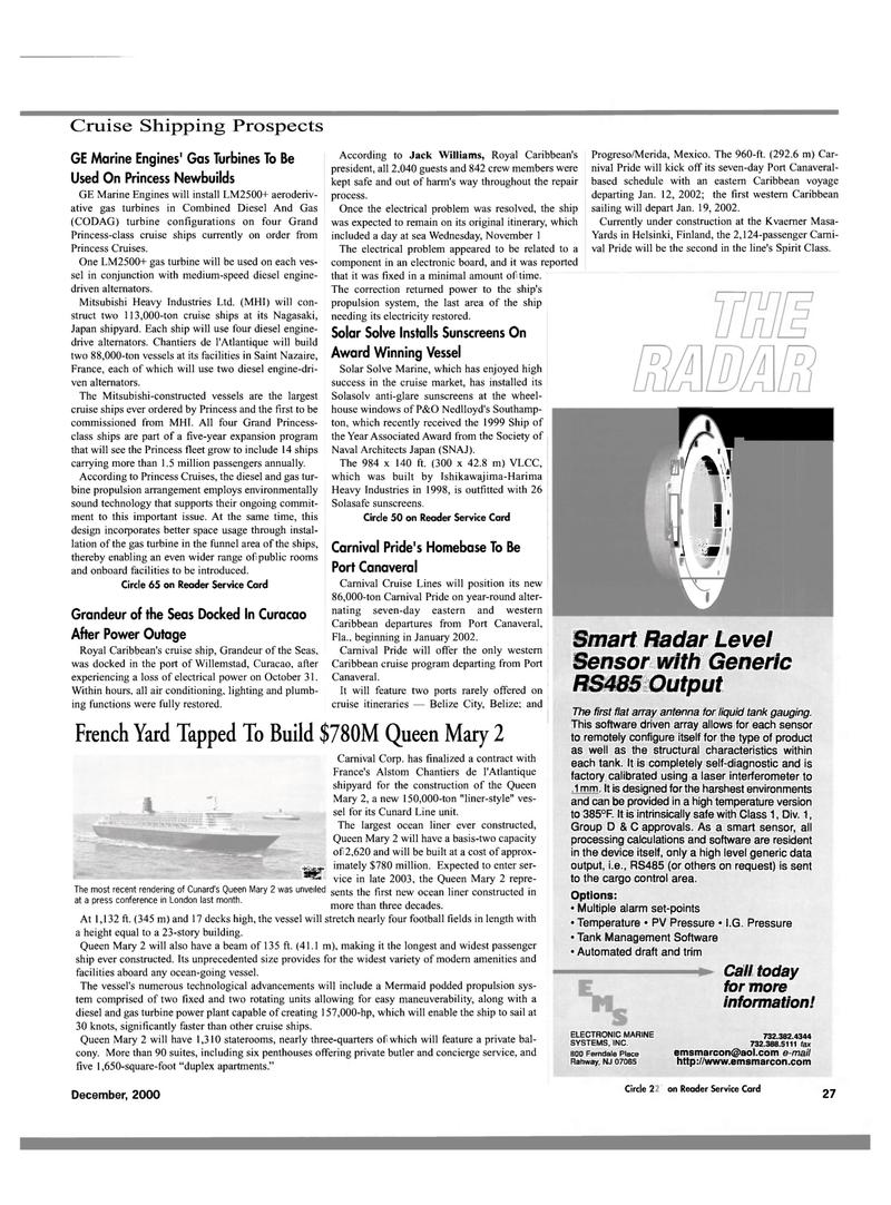 Maritime Reporter Magazine, page 30,  Dec 2000