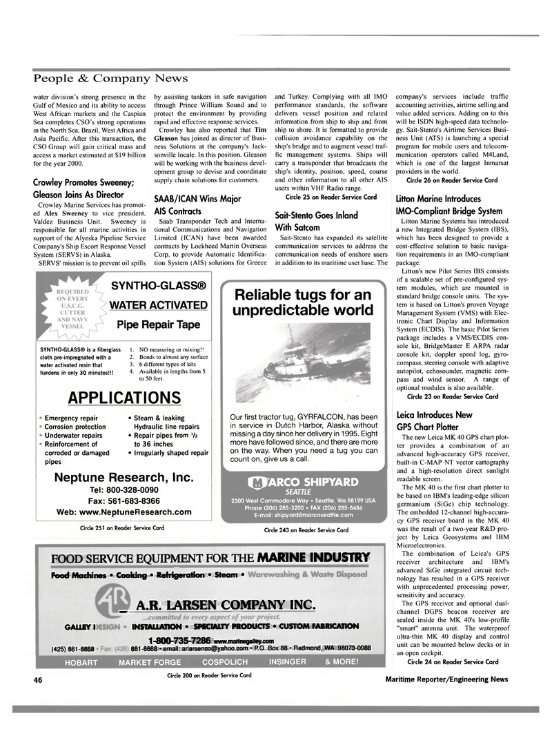 Maritime Reporter Magazine, page 49,  Dec 2000 chip technology