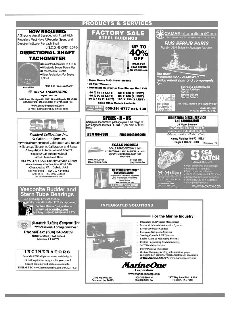 Maritime Reporter Magazine, page 58,  Dec 2000