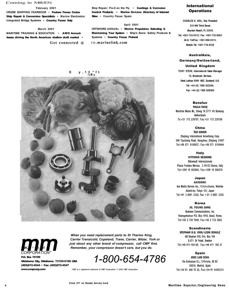 Maritime Reporter Magazine, page 4,  Jan 2001 Scandinavia