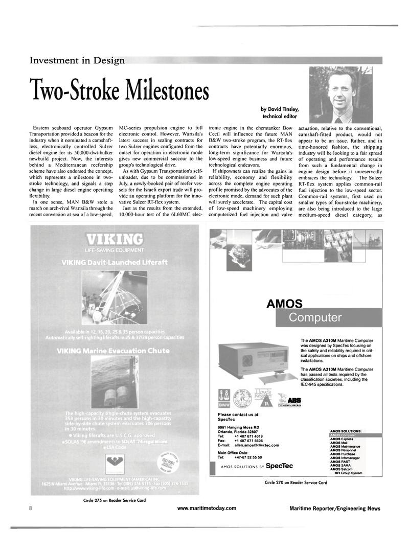 Maritime Reporter Magazine, page 8,  Feb 2001