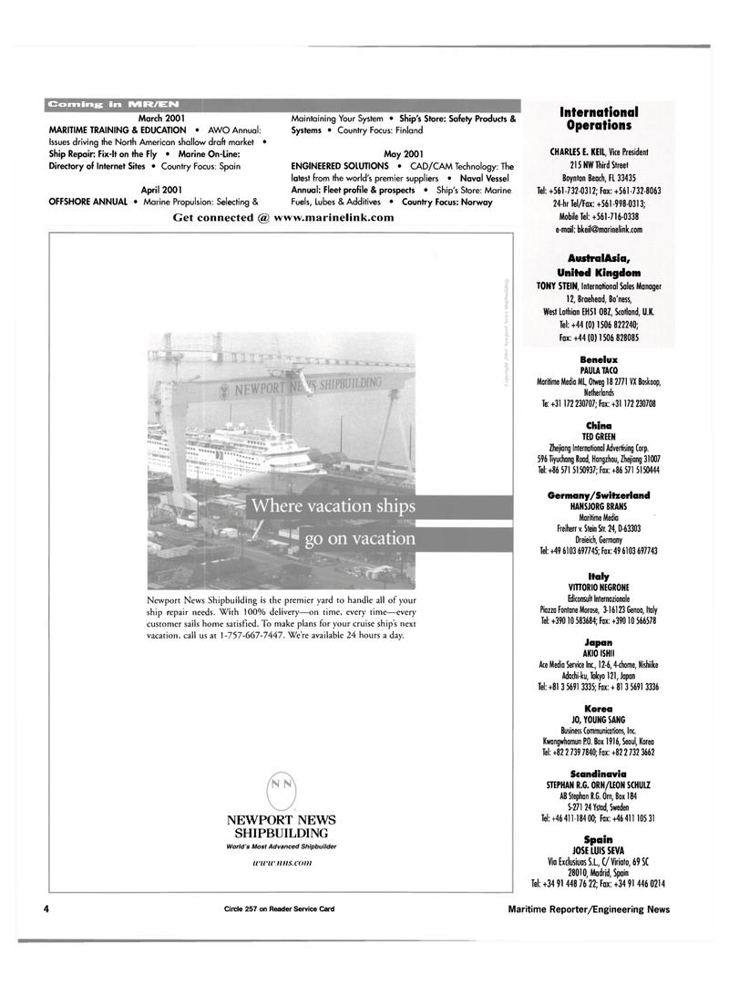 Maritime Reporter Magazine, page 4,  Feb 2001 Australasia