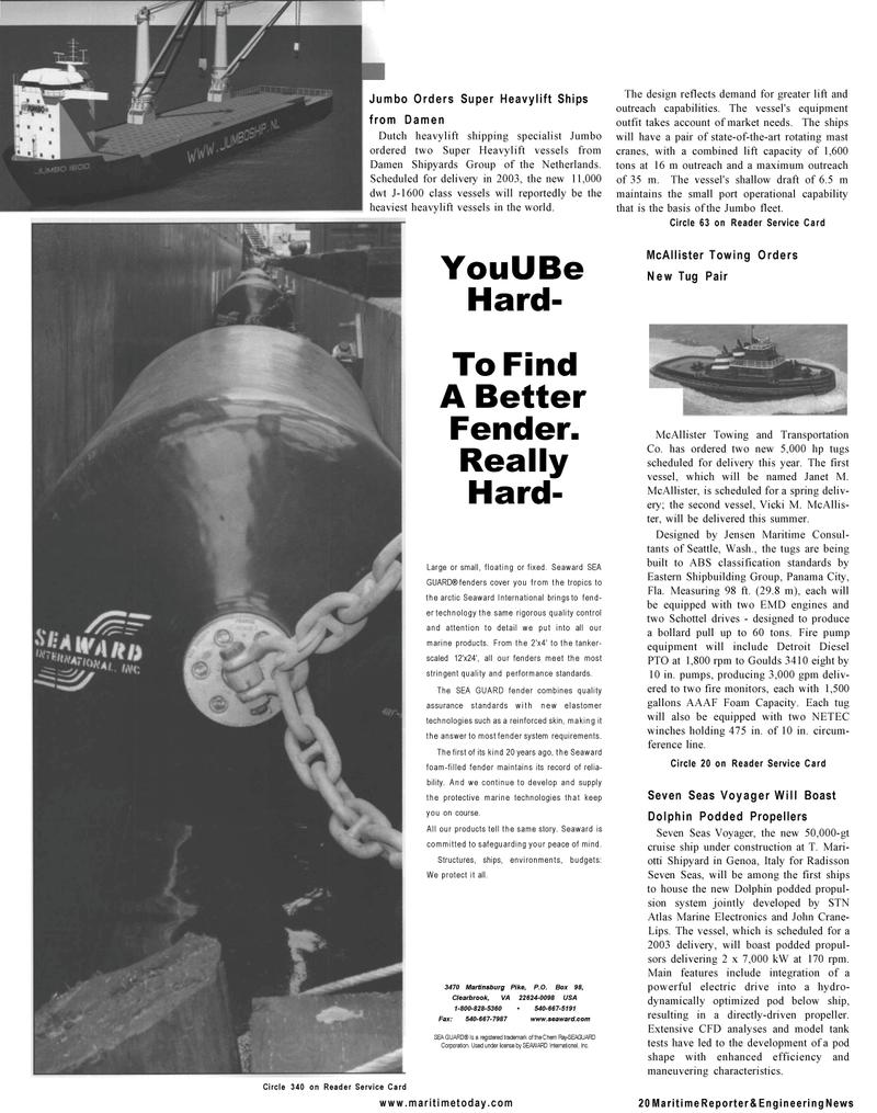Maritime Reporter Magazine, page 18,  Mar 2001 er technology
