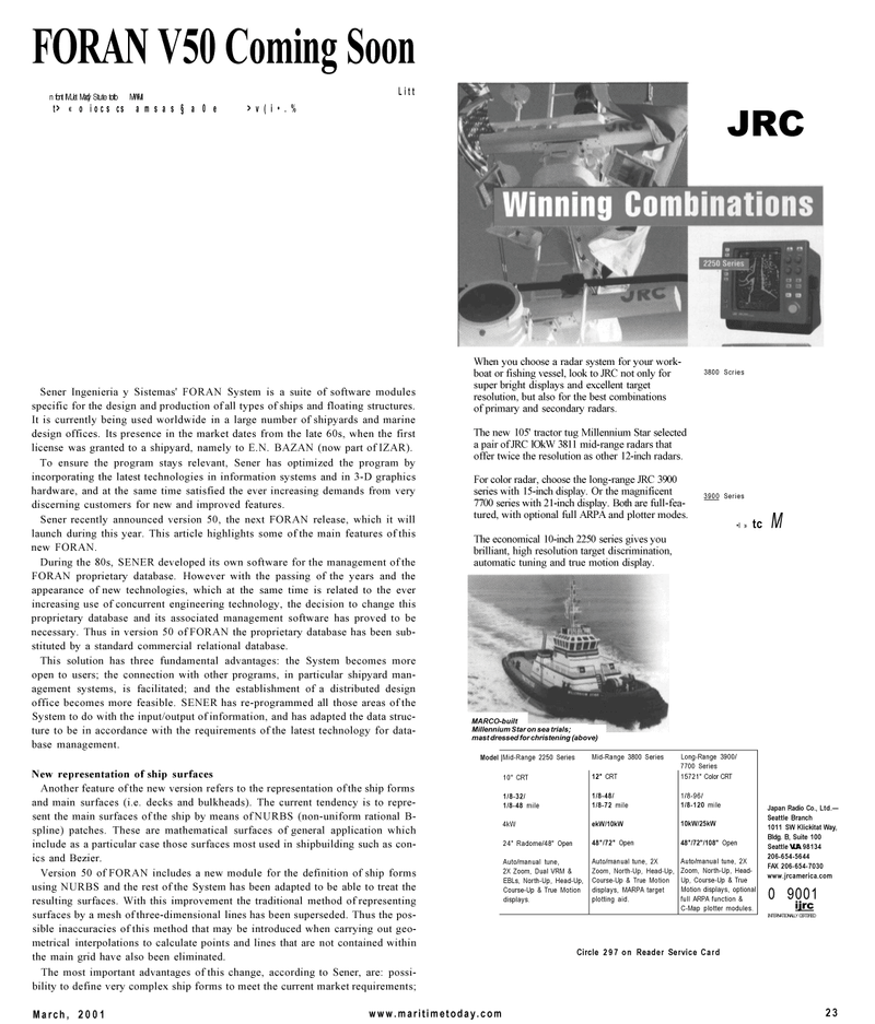 Maritime Reporter Magazine, page 23,  Mar 2001 3-D