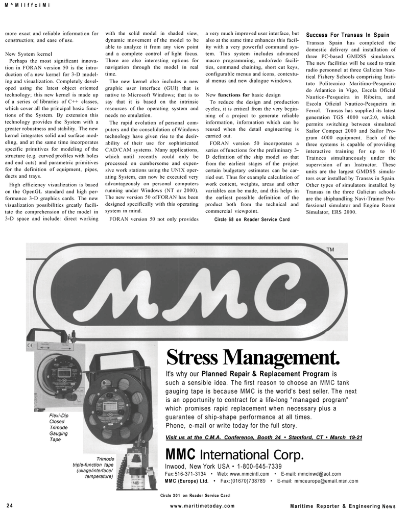 Maritime Reporter Magazine, page 24,  Mar 2001 CAD/CAM