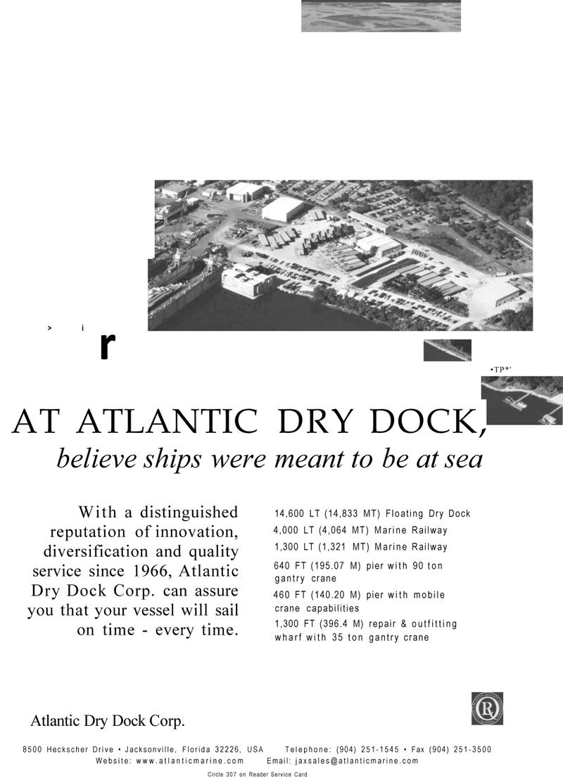 Maritime Reporter Magazine, page 27,  Mar 2001 Atlantic Dry Dock Corp.