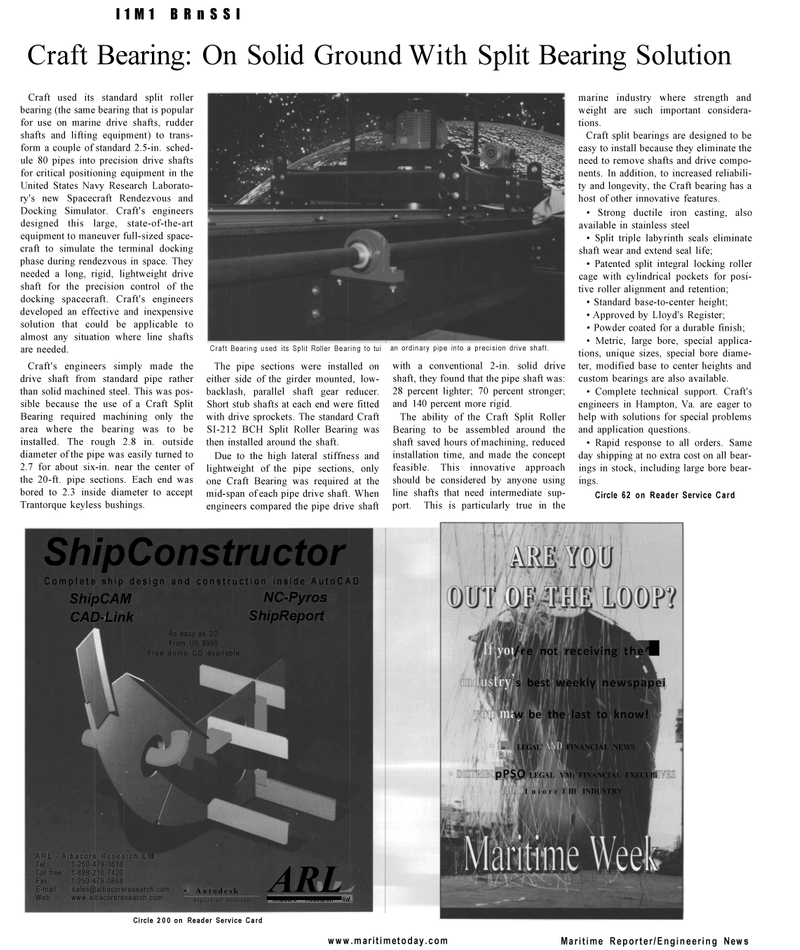 Maritime Reporter Magazine, page 28,  Mar 2001