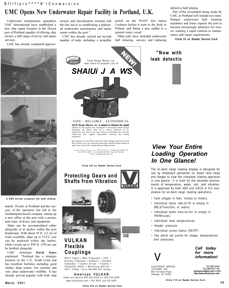 Maritime Reporter Magazine, page 29,  Mar 2001 hull plating