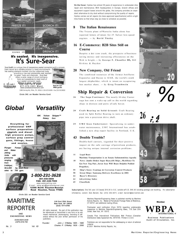 Maritime Reporter Magazine, page 2,  Mar 2001 Texas