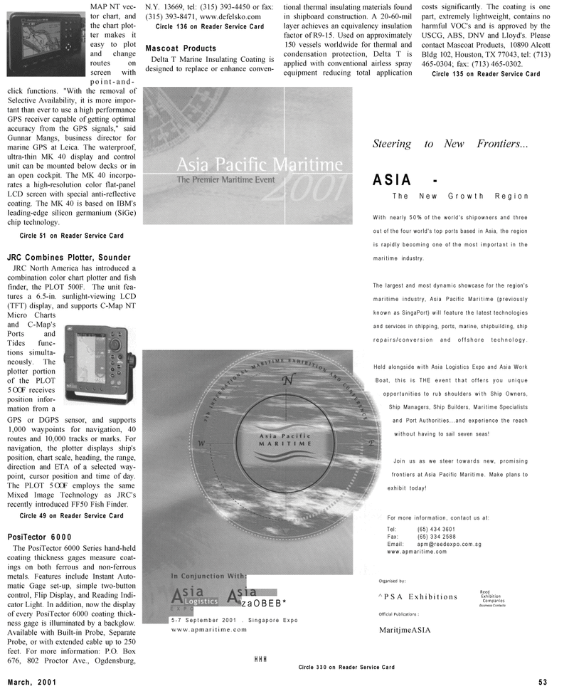 Maritime Reporter Magazine, page 53,  Mar 2001 condensation