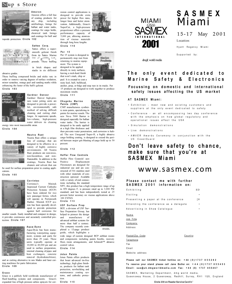 Maritime Reporter Magazine, page 55,  Mar 2001 tin-free technology