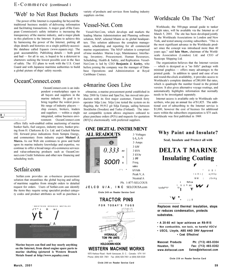 Maritime Reporter Magazine, page 59,  Mar 2001 Marine Administration and Planning software