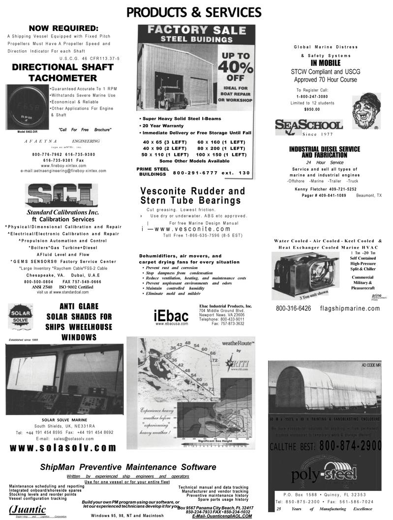 Maritime Reporter Magazine, page 66,  Mar 2001 Hour Service Service