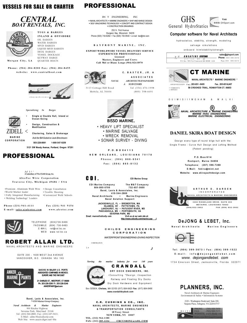 Maritime Reporter Magazine, page 70,  Mar 2001 Connecticut