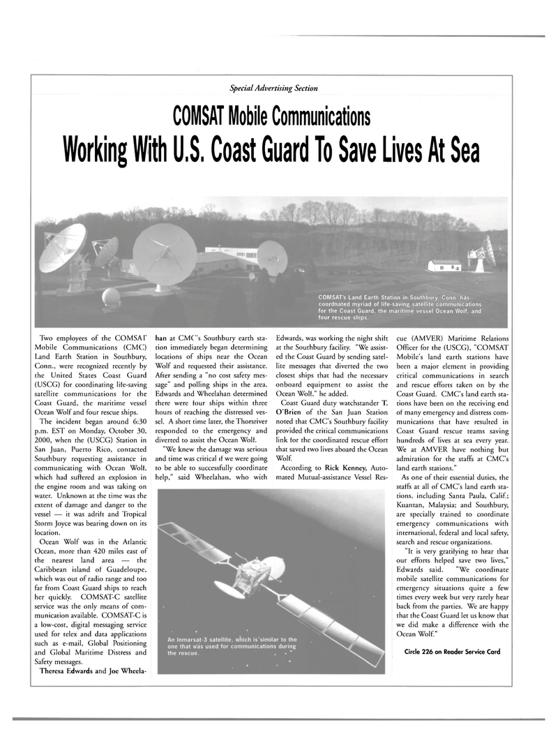 Maritime Reporter Magazine, page 18,  Apr 2001 Joe Wheela