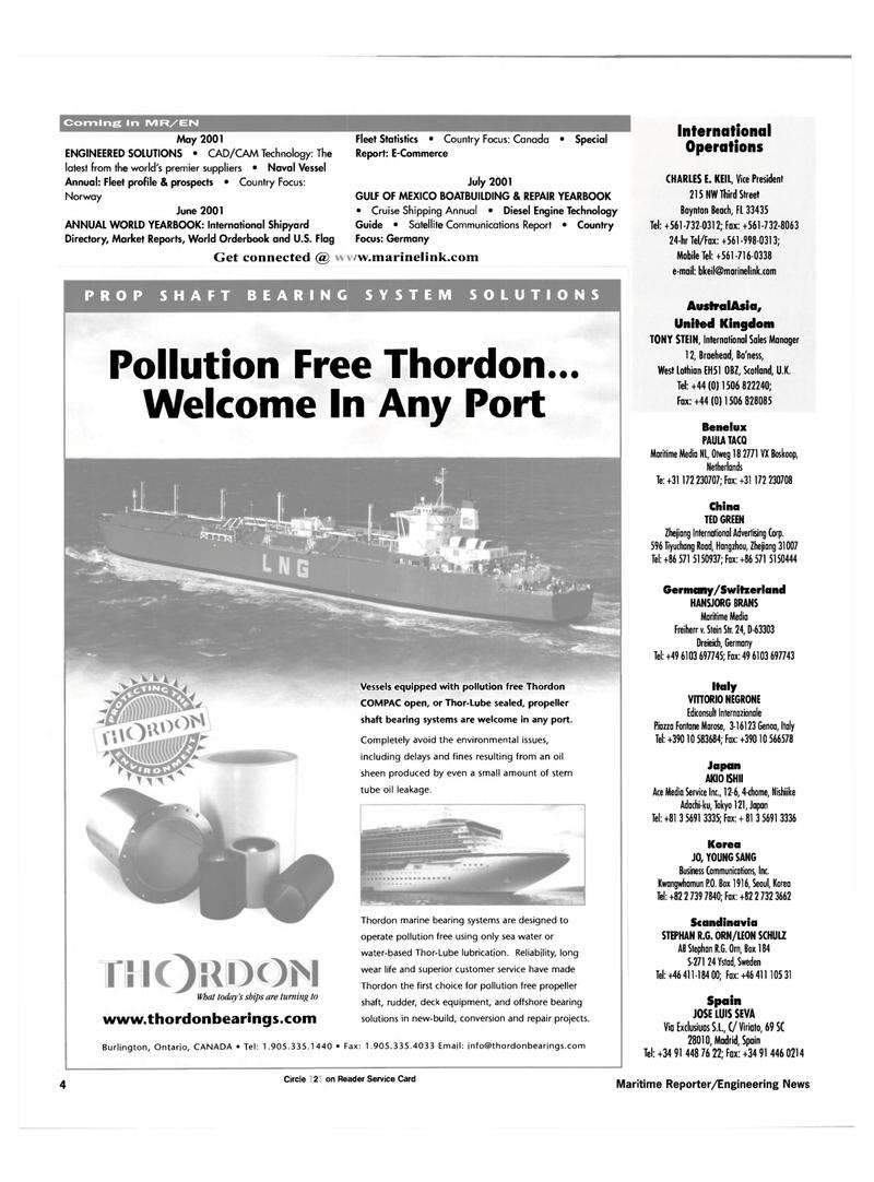 Maritime Reporter Magazine, page 4,  Apr 2001 Australasia
