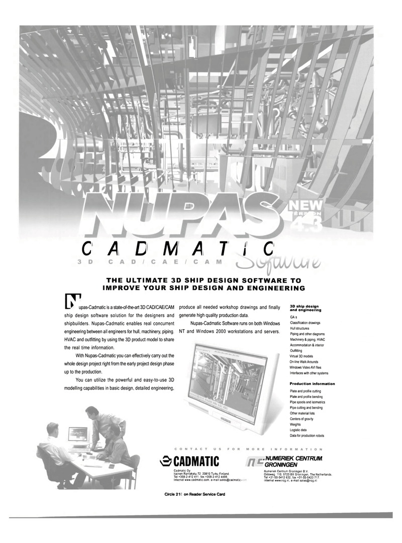 Maritime Reporter Magazine, page 40,  May 2001 real time information