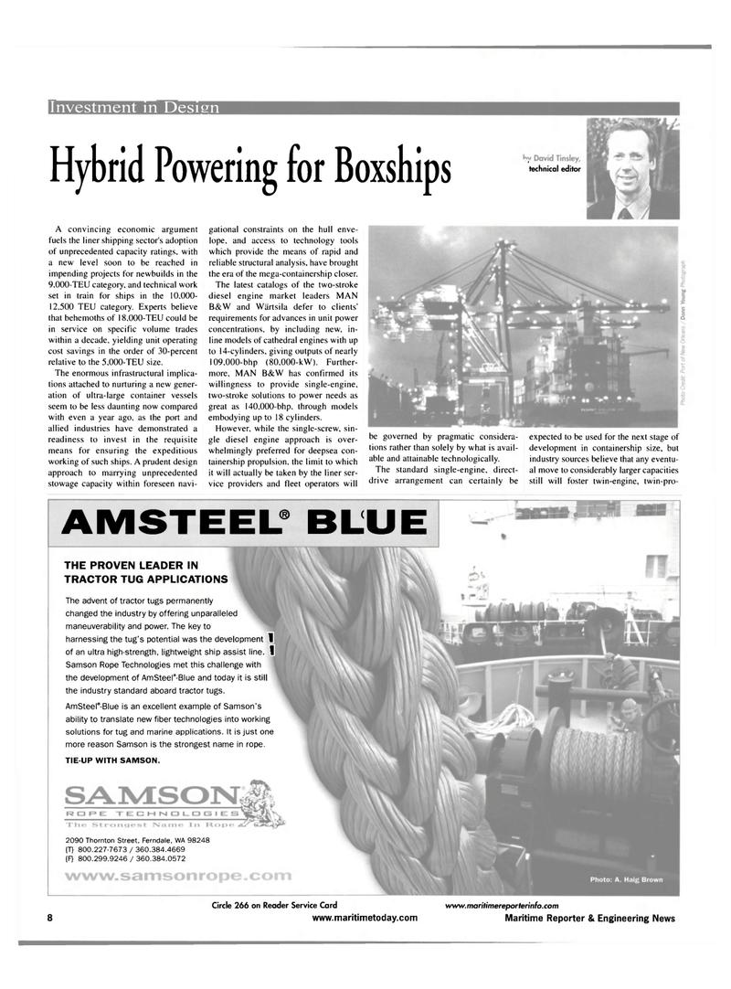 Maritime Reporter Magazine, page 8,  Jul 2001 fiber technologies