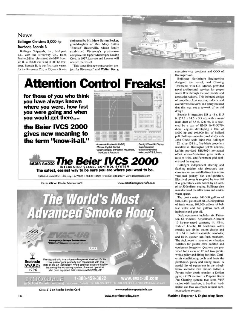 Maritime Reporter Magazine, page 14,  Jul 2001 Minnesota