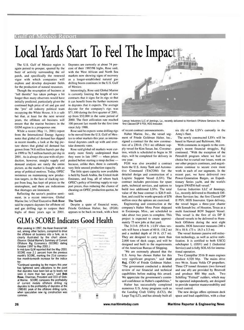 Maritime Reporter Magazine, page 26,  Jul 2001 Hawaii