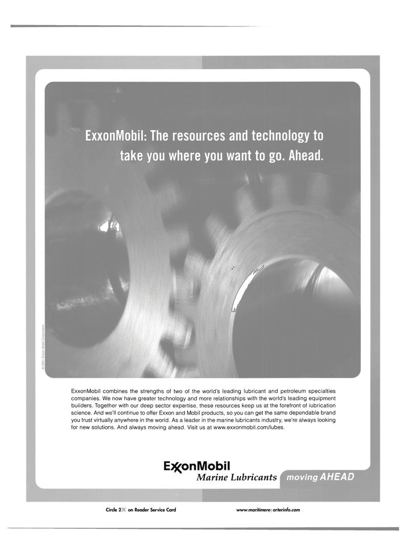 Maritime Reporter Magazine, page 1,  Jul 2001 ExxonMobil