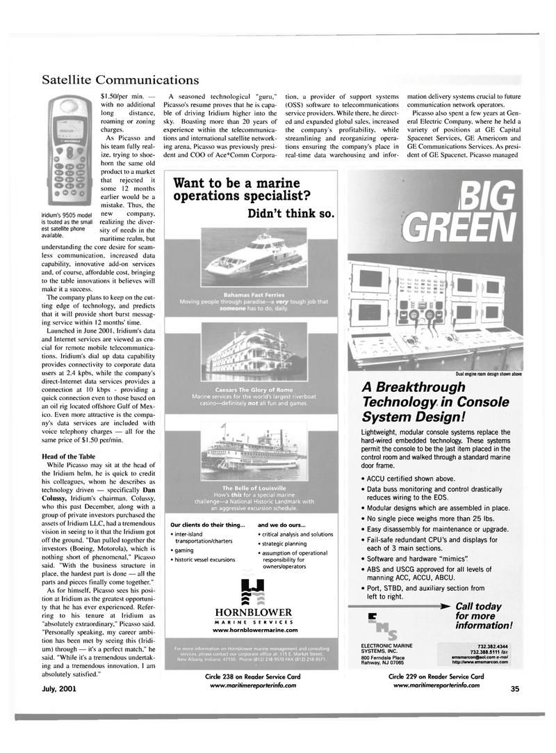 Maritime Reporter Magazine, page 35,  Jul 2001 New Jersey