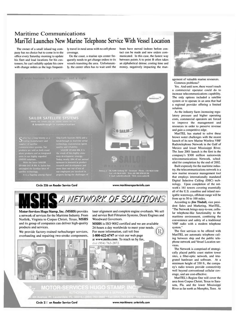 Maritime Reporter Magazine, page 38,  Jul 2001 Laser