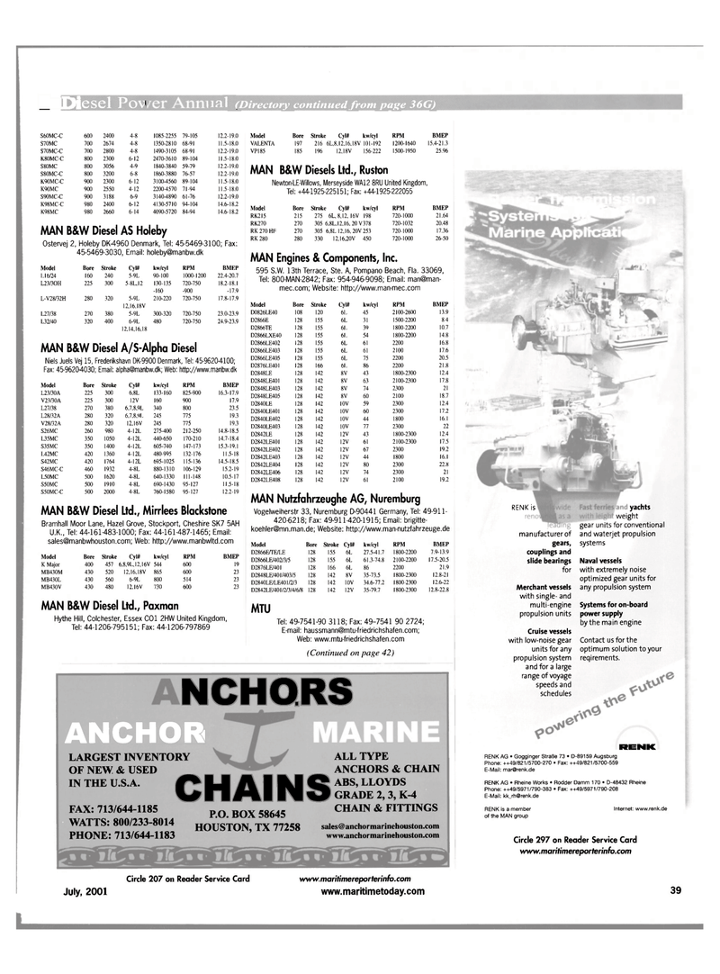 Maritime Reporter Magazine, page 47,  Jul 2001 Texas