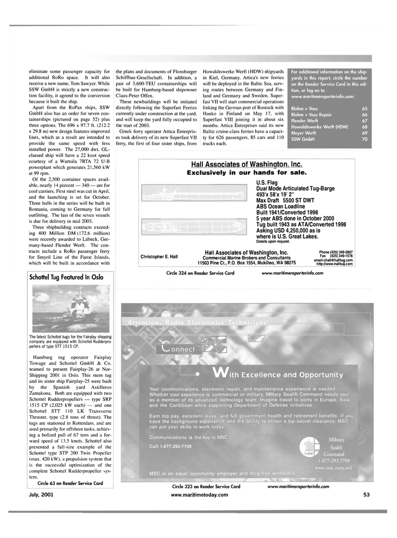 Maritime Reporter Magazine, page 61,  Jul 2001 Claus-Peter Offen