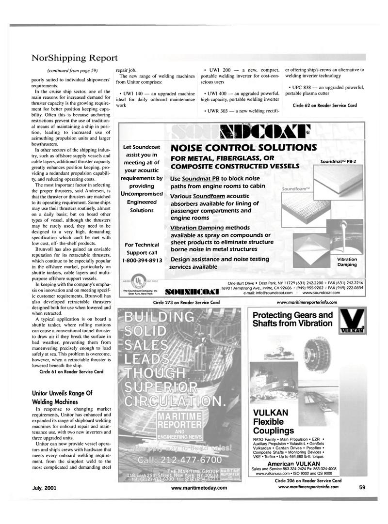 Maritime Reporter Magazine, page 67,  Jul 2001 complicated and demanding steel repair job