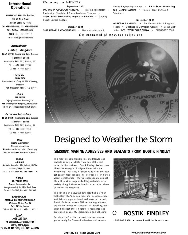 Maritime Reporter Magazine, page 1,  Aug 2001 computer-based training