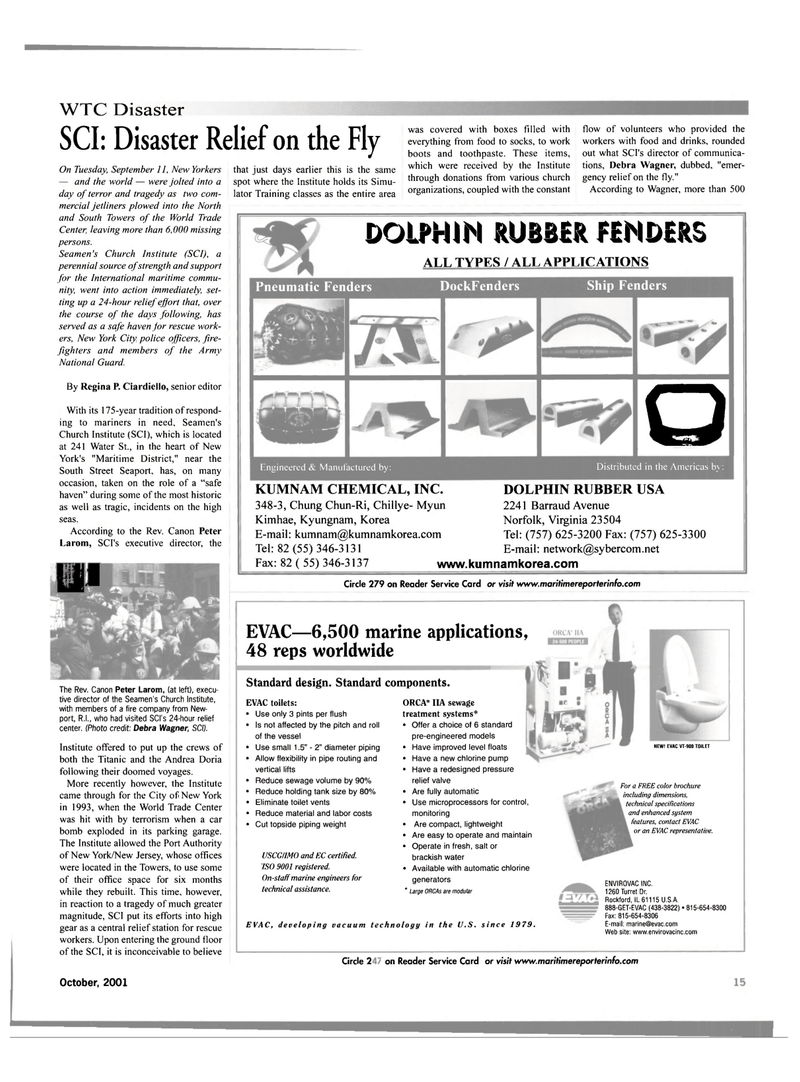 Maritime Reporter Magazine, page 15,  Oct 2001