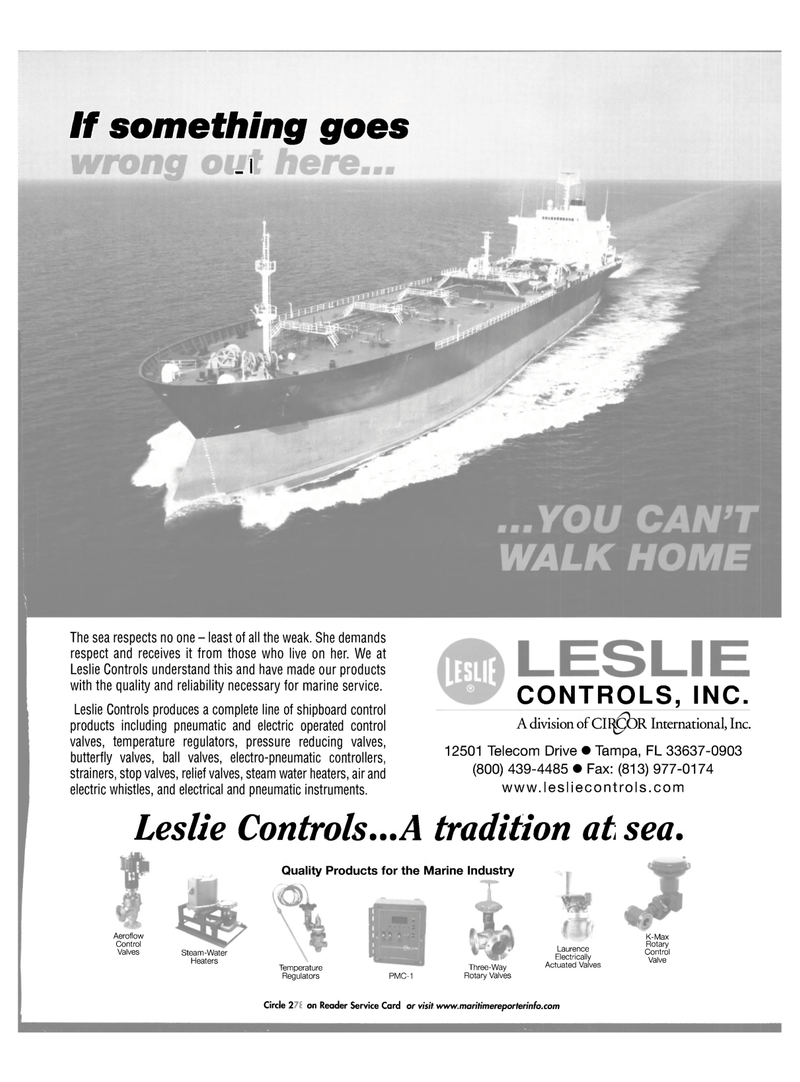 Maritime Reporter Magazine, page 39,  Oct 2001 OR International Inc.