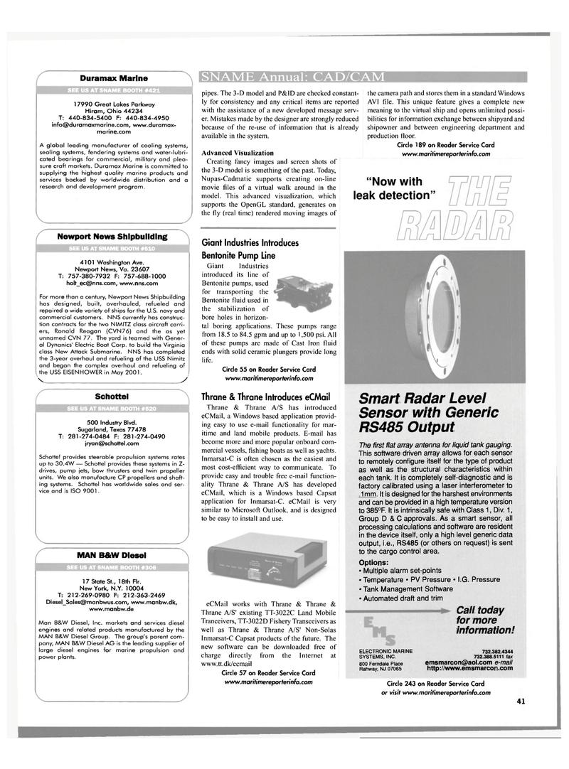 Maritime Reporter Magazine, page 41,  Oct 2001 New Jersey