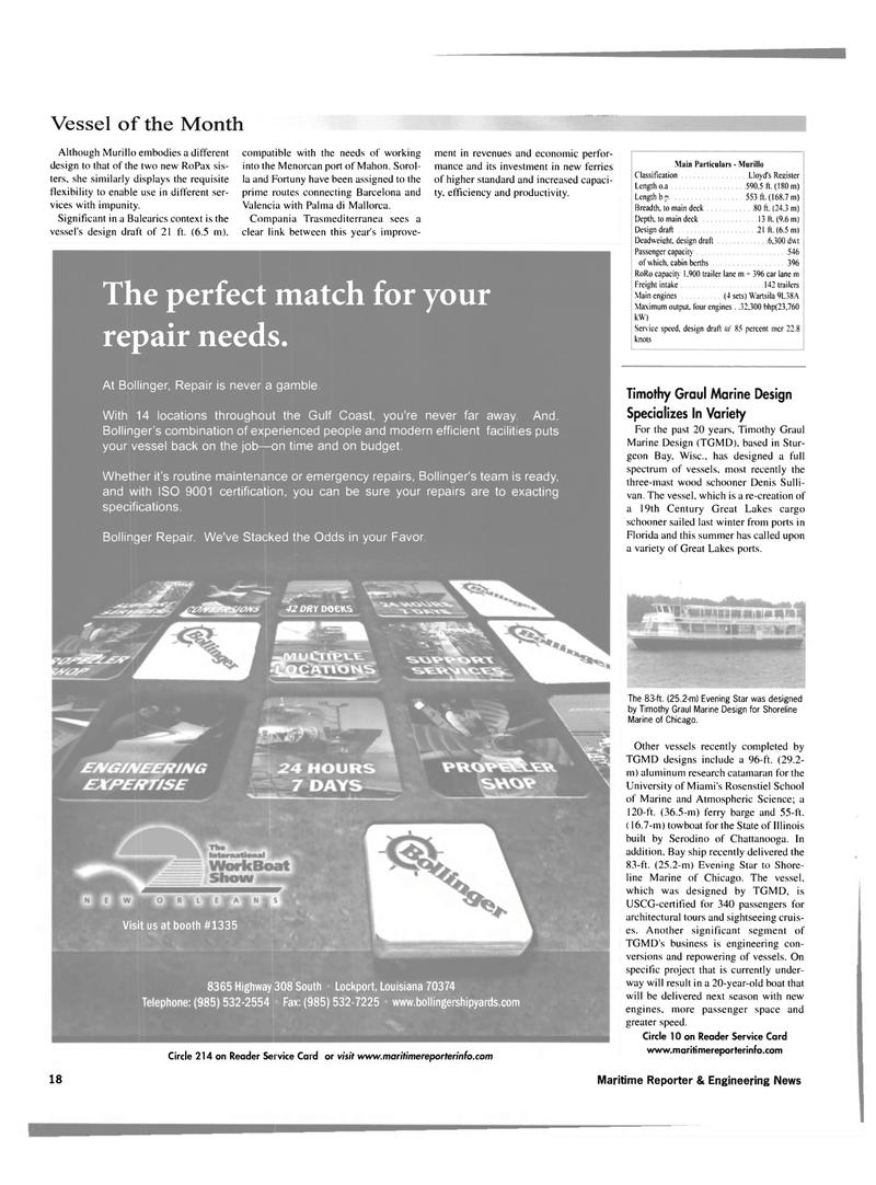 Maritime Reporter Magazine, page 18,  Nov 2001 Louisiana