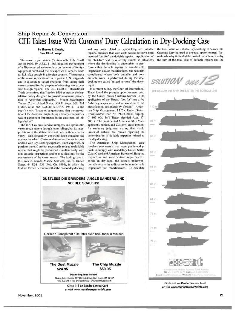 Maritime Reporter Magazine, page 21,  Nov 2001 AMERICAN BUREAU OF SHIPPING