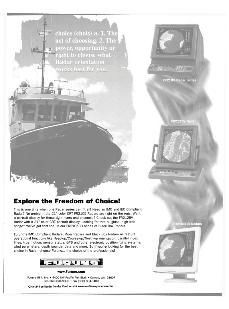 Maritime Reporter Magazine, page 23,  Nov 2001 river Black Box Radars