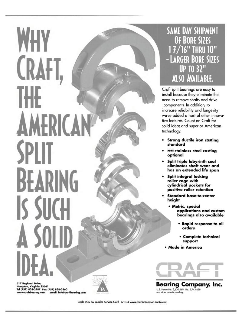 Maritime Reporter Magazine, page 1,  Nov 2001