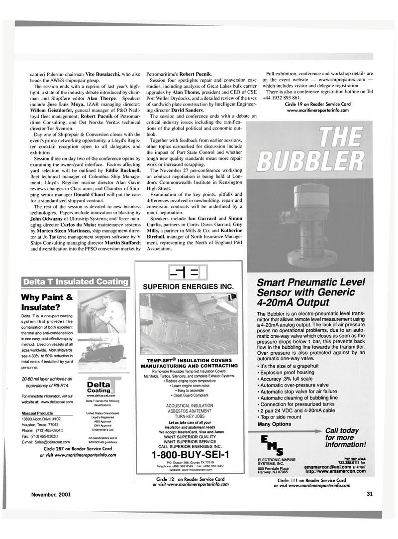 Maritime Reporter Magazine, page 31,  Nov 2001 New Jersey