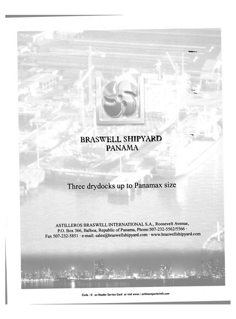 Maritime Reporter Magazine, page 35,  Nov 2001 Astilleros Braswell International SA