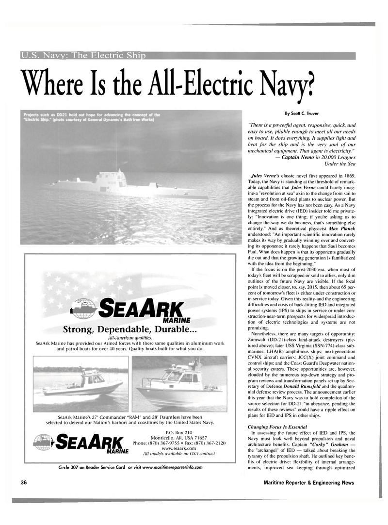 Maritime Reporter Magazine, page 36,  Nov 2001