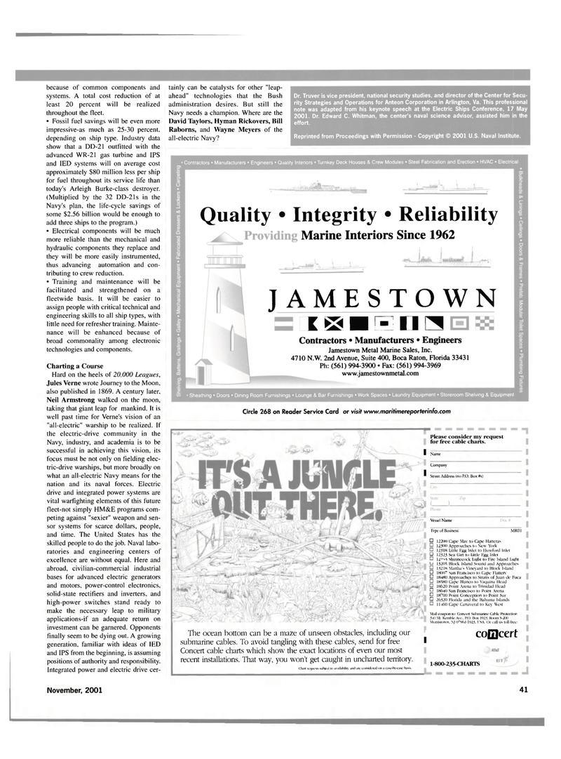 Maritime Reporter Magazine, page 41,  Nov 2001 New Jersey