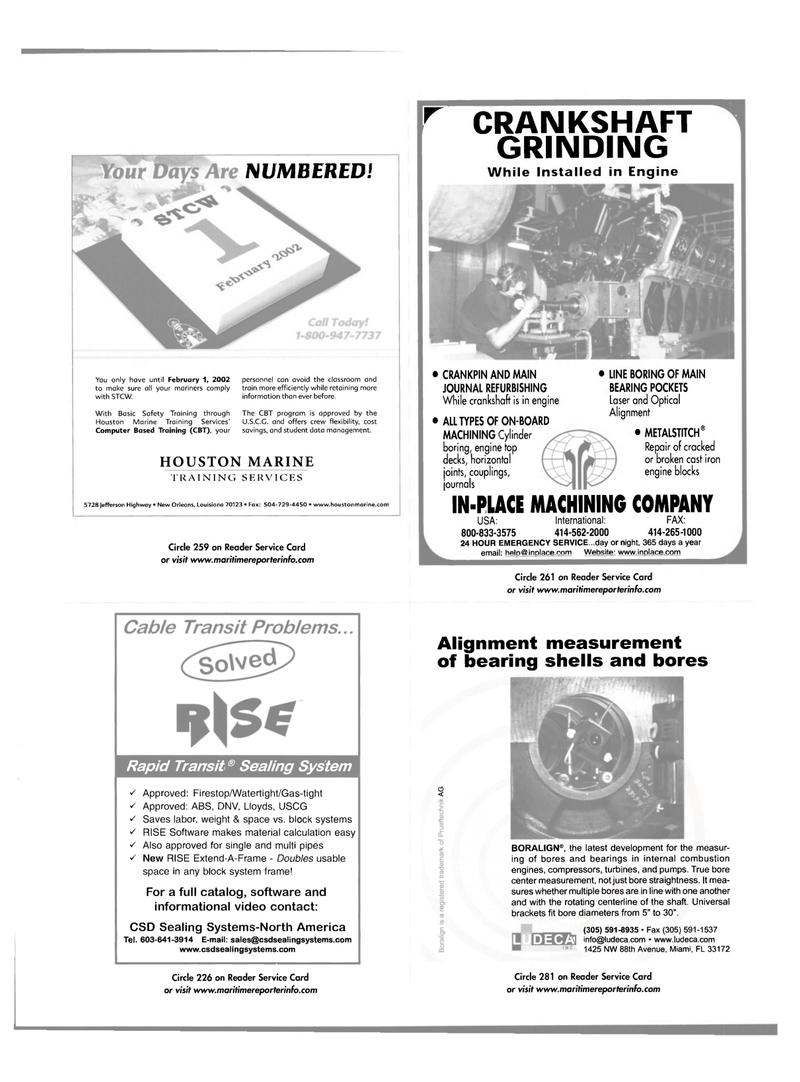 Maritime Reporter Magazine, page 43,  Nov 2001 Florida