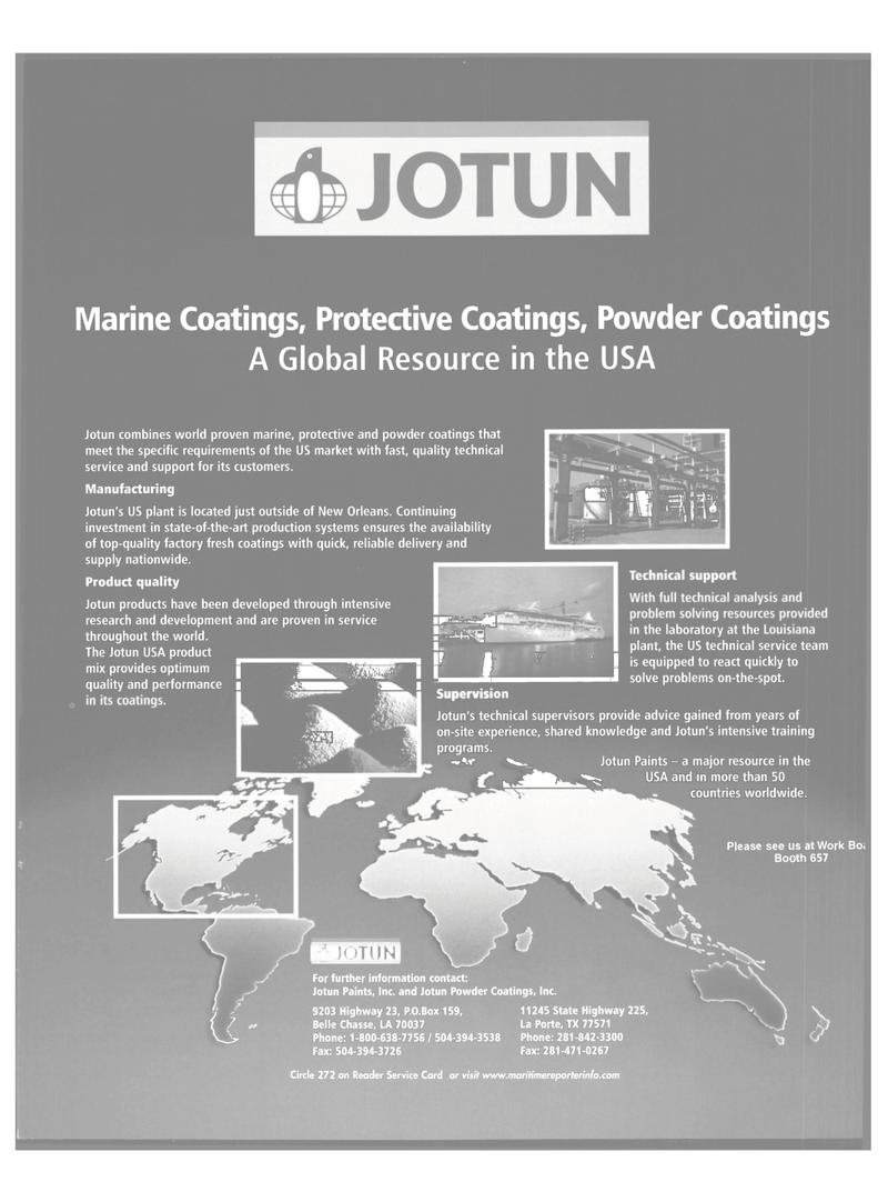 Maritime Reporter Magazine, page 45,  Nov 2001