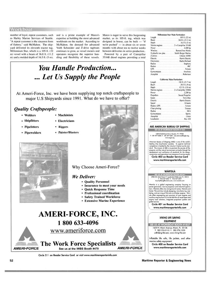 Maritime Reporter Magazine, page 52,  Nov 2001 manufacturing