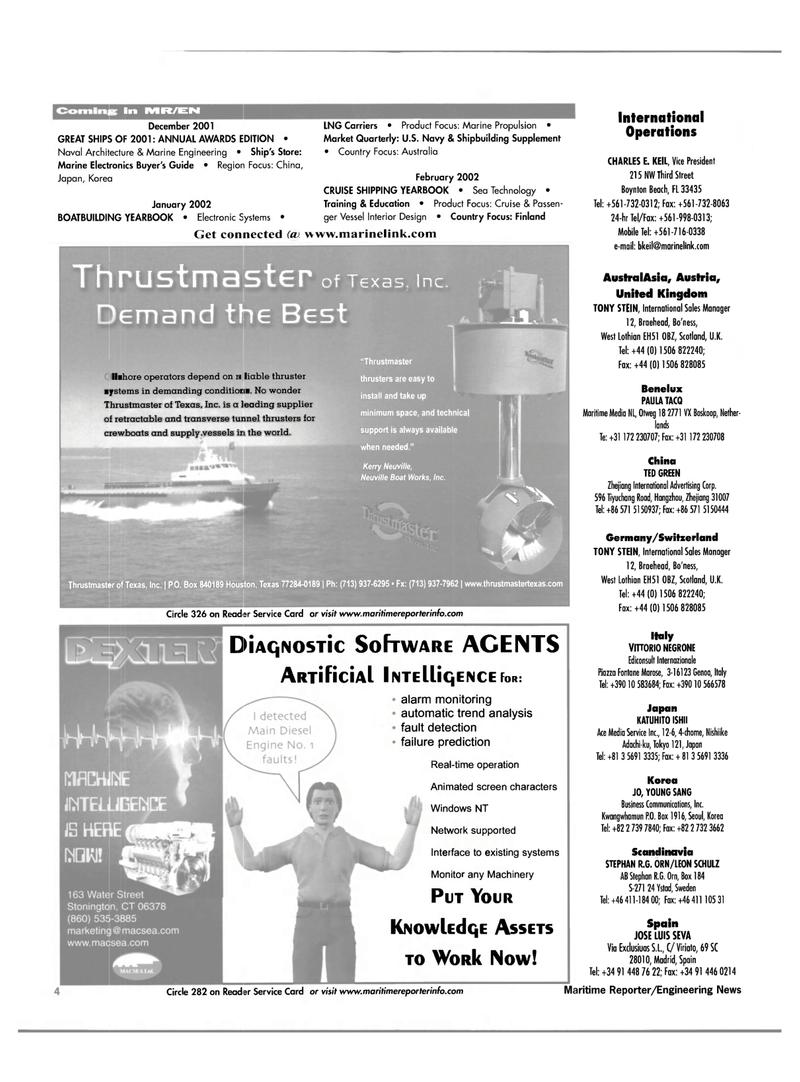 Maritime Reporter Magazine, page 4,  Nov 2001 Scandinavia
