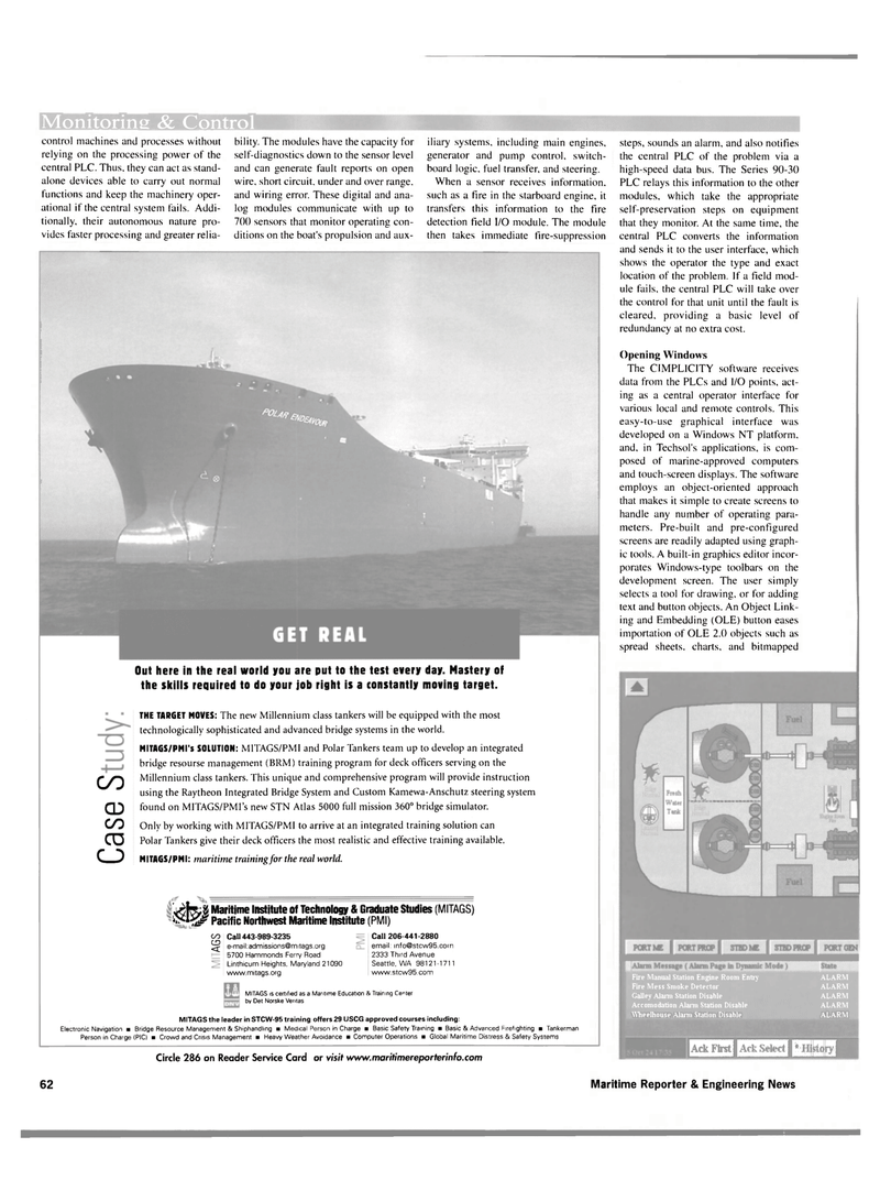 Maritime Reporter Magazine, page 62,  Nov 2001 Maryland